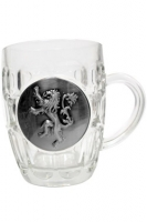 Game Of Thrones - Gadget - Boccale Birra - Logo Metallico - Lannister - Ufficiale