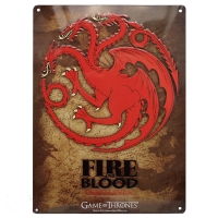 Game Of Thrones - Gadget - Placca Targaryen - Ufficiale