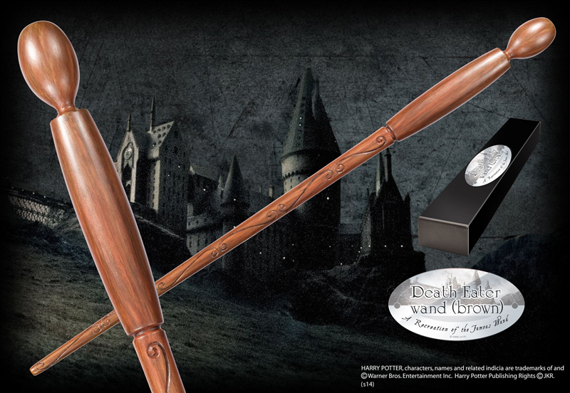 Harry Potter - Bacchetta del Mangiamorte Brown - Prodotto ufficiale © Warner Bros. Entertainment Inc.