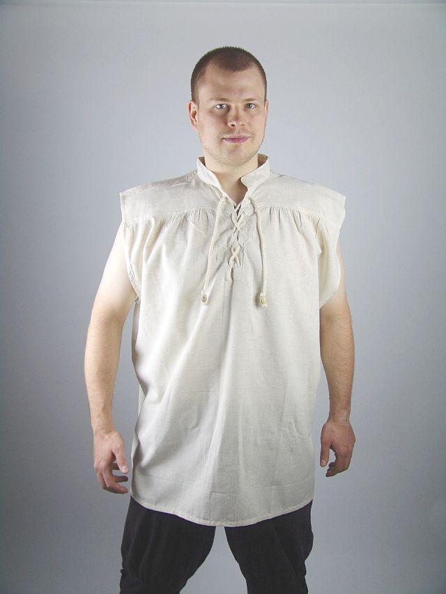 promo code f4001 d15fb Abiti Medievali - Camicie in cotone - Camicia Smanicata ...