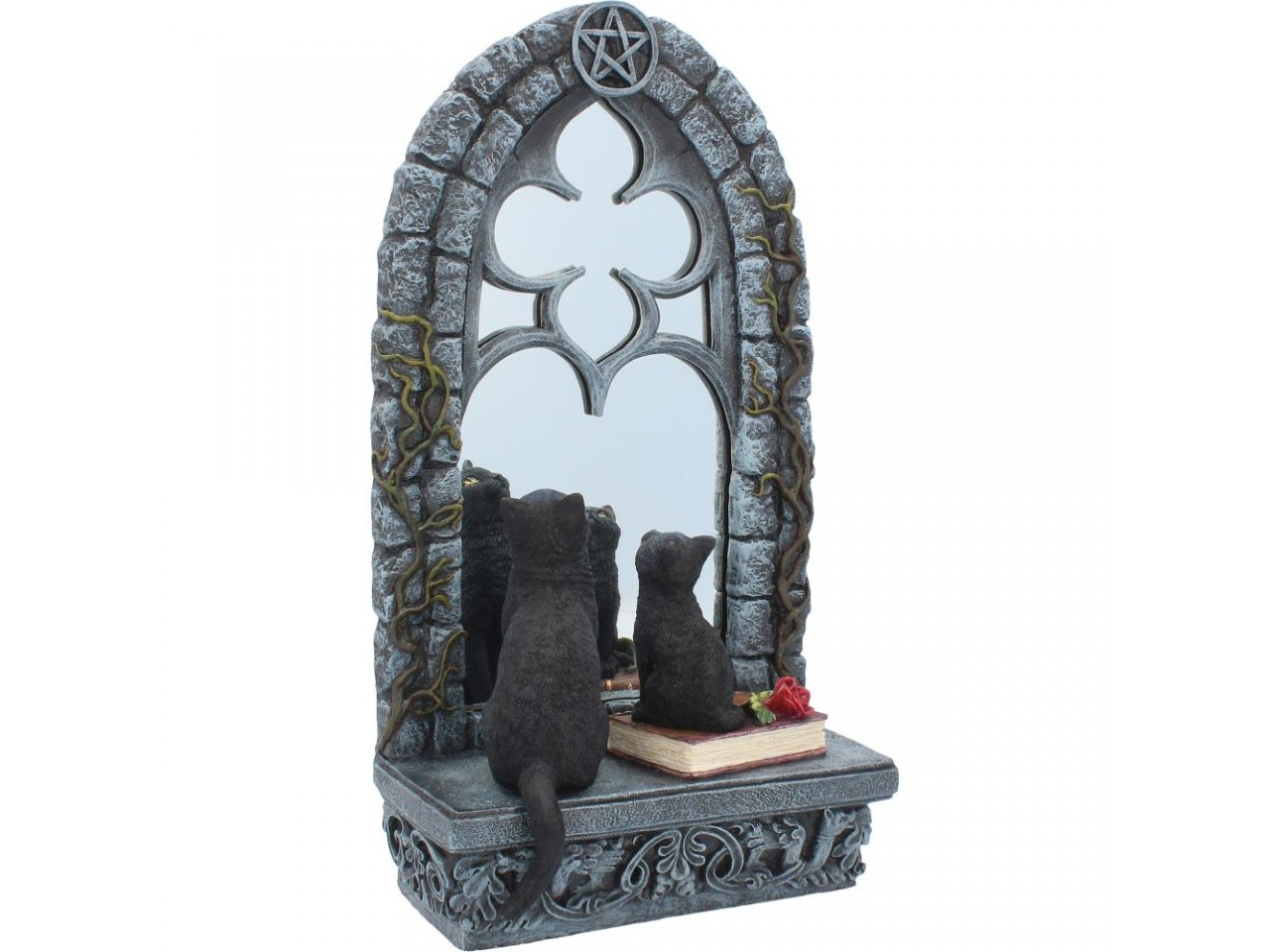 Creature della Foresta - Gatto Familar Reflection - Resina  -Dipinto a mano