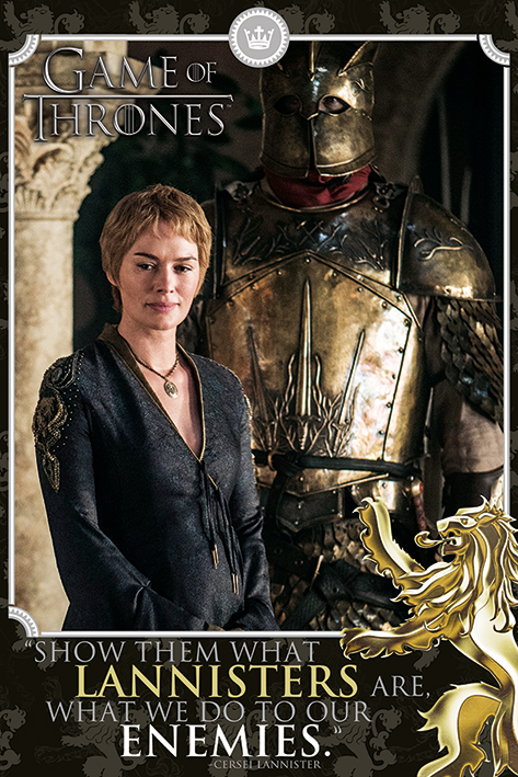 Game of Thrones - Poster Cersei Lannister - Prodotto Ufficiale HBO