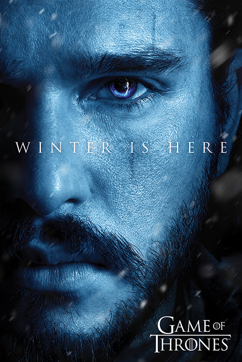 Game of Thrones - Poster jon winter is here - Prodotto Ufficiale HBO