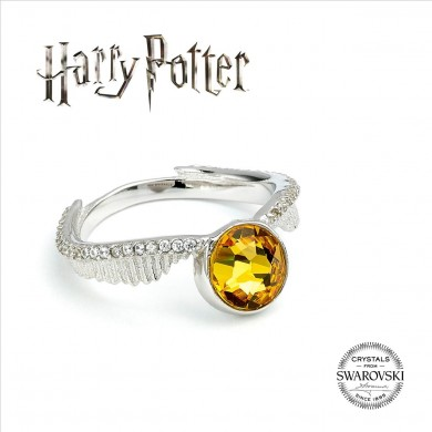 Harry Potter - Anello Boccino d'Oro con Cristallo Swarovski - Prodotto ufficiale © Warner Bros. Entertainment Inc.