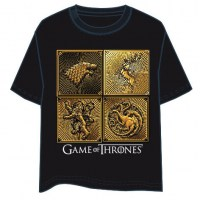 Games Of Thrones - T-Shirt Casate - 100% Cotone - Prodotto Ufficiale HBO