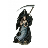 Anne Stokes - Dama e Morte Summon the Reaper - Resina -Dipinto a mano