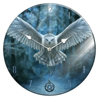 Anne Stokes - Orologio Gufo - Awaken Your Magic - Vetro