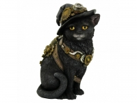Creature della Foresta - Gatto Kitty Steampunk - Resina - Dipinto a mano