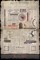 Game of Thrones - Poster Infografica - Prodotto Ufficiale HBO