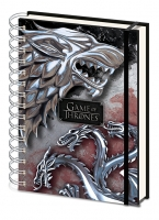 Game of Thrones - Quaderno Spirale Stark Targaryen - Prodotto Ufficiale HBO