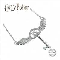 Harry Potter , Collana Chiave Volante Argento 925 e Swarovski