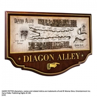 Harry Potter - Gadget - Mappa Diagon Alley - Placca - Ufficiale