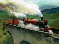Harry Potter - quadro in tela Hogwarts Express - Prodotto Ufficiale Warner Bros.