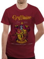 Harry Potter - T-Shirt Grifondoro - Cotone - Prodotto ufficiale © Warner Bros. Entertainment Inc.