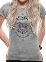 Harry Potter - T-Shirt Donna Hogwarts - Cotone -Prodotto Ufficiale Warner Bros.