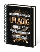 Harry Potter - Notebook ad anelli - Magic - Formato A5 - Righe - Prodotto Ufficiale Warner Bros.