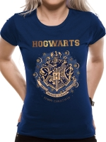 Harry Potter - T-Shirt donna Natale Hogwarts - Cotone -Prodotto Ufficiale Warner Bros.