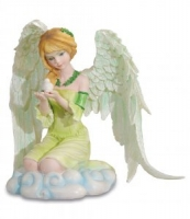 Les Alpes - Guardian Angel - Angelo Con Colomba - Dipinto a mano - 044 104