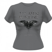 Game of Thrones - T-Shirt Donna - All Men Must Die - Prodotto ufficiale © HBO