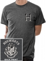 Harry Potter - T-Shirt Stemma Hogwarts - Cotone - Prodotto ufficiale © Warner Bros. Entertainment Inc.