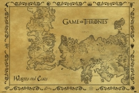 Game of Thrones - Poster Essos e Westeros
